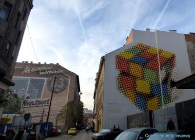 Murales en el barrio judío de Budapest