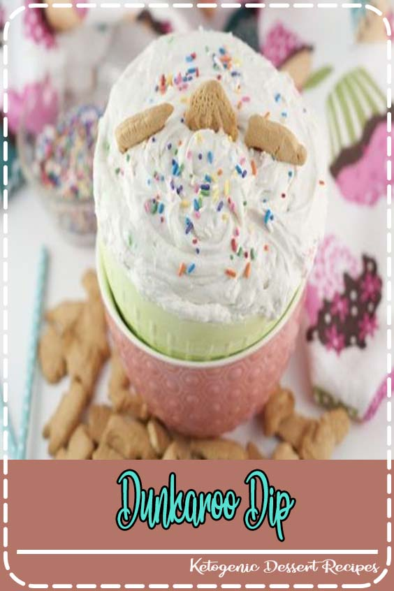 Dunkaroo Cake Batter Dip recipe is the easiest dessert dip there is and made with just thr Dunkaroo Dip