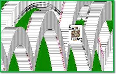 Animace v dřívějších verzích Microsoft Solitaire