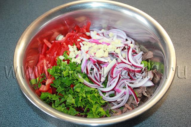рецепт салата тбилиси с пошаговыми фото