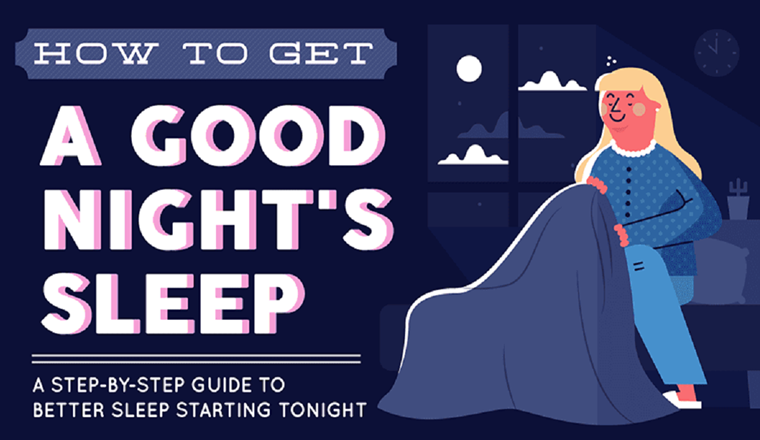 How To Get A Good Night's Sleep (The Ultimate Guide) #infographic