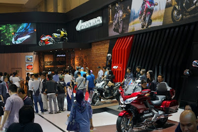 Ramainya booth Honda di GIIAS 2019