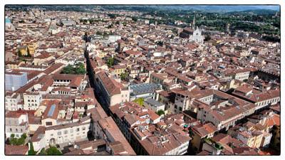フィレンツェの街の色彩