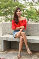 Rhea Chakraborty in Red Crop Top and Denim Shorts Spicy Pics ~  Exclusive 017.JPG