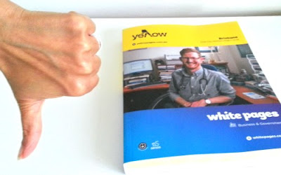 Thumbs down to phone books. Here's how to cancel your phone book delivery.