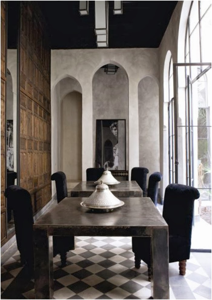 Modern Moroccan in black, white and natural... | T A N Y E ...