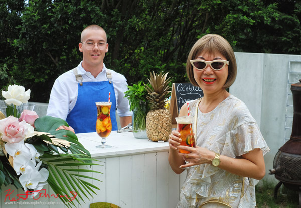 Vivienne with a Cuban cocktail - Havana Days pool party Launch Event - Photographed by Kent Johnson for Street Fashion Sydney