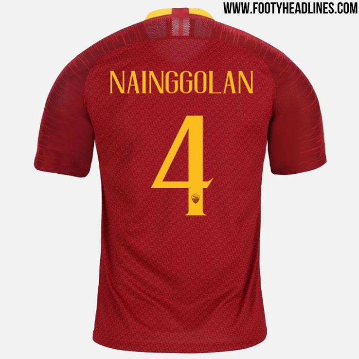 417e04c7d Update - Unique Nike AS Roma 18-19 Kit Font Released - Leaked Soccer ...
