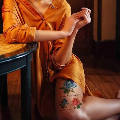 Temporary Flower Tattoo Body