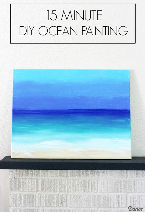 DIY Ocean Painting with Darice