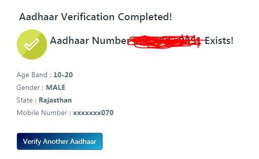 Verify an Aadhaar Number