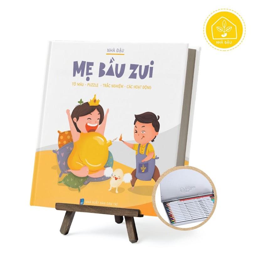[A116] Sách tô màu kèm ô chữ cho Bà Bầu