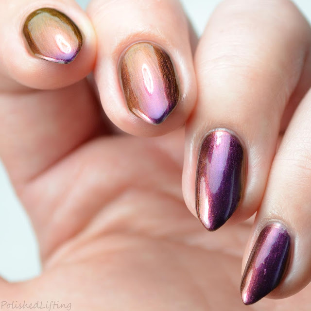 violet red gold multi chrome nail polish