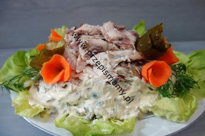 Sałatka z ziemniaków i makreli