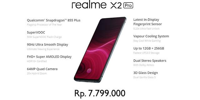 Spesifikasi Lengkap REALME X2 Pro dan Harganya