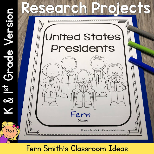 United States Presidents Class Project for Kindergarten and 1st Grade #FernSmithsClassroomIdeas
