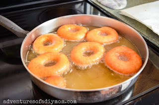 frying the donuts