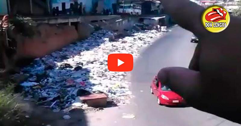 Mercado y Polideportivo de Mesuca rodeados de montañas de basura
