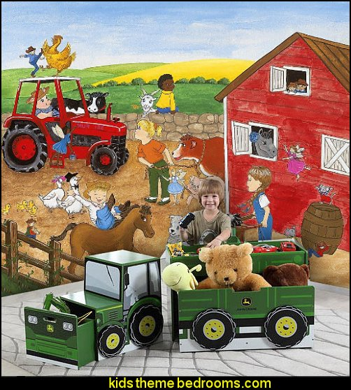 John Deere Toy Box Set  John Deere bedroom decorating John Deere furniture