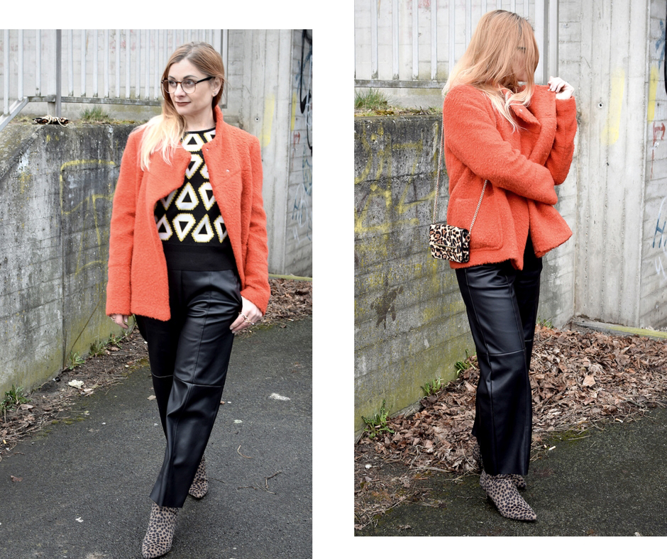 Frauen Lederhose Schwarz, Schwarz und Orange, Frauen über 40, Ü40 Frauen