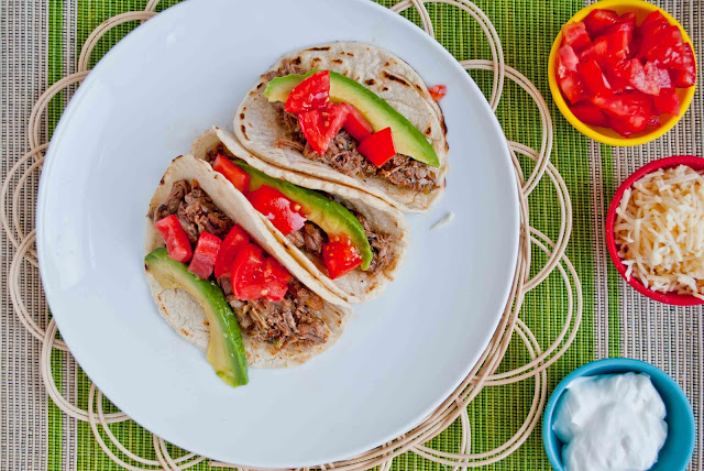The crock pot does all the work for these delicious Tequila Lime Beef Tacos.