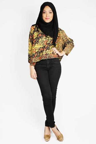 Model Baju Batik Kantor Lengan Panjang Untuk Wanita Muslimah