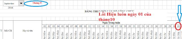 Hướng dẫn tạo lịch (calendar) công tác, theo dõi, chấm công tự động bằng Excel