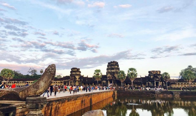 the amazing angkor wat sunset in Siem Reap Cambodia