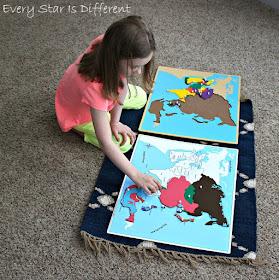 Montessori Map of Asia