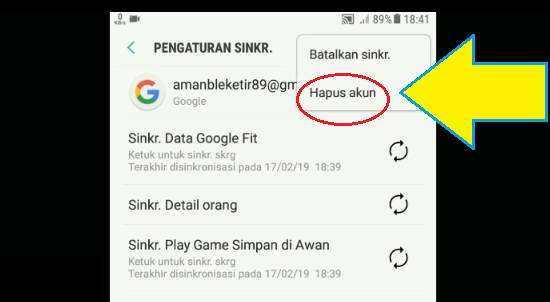 Proses Keluar Dari Akun Google Mail