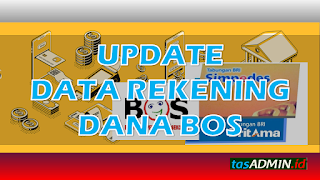 cara update data nomor rekening bank bos pusat