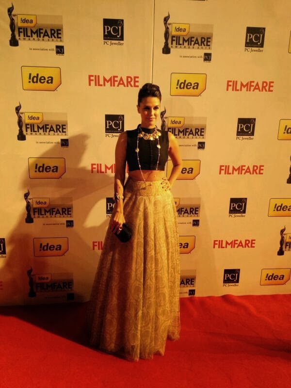 Neha Dhupia at FilmFare Award 2014