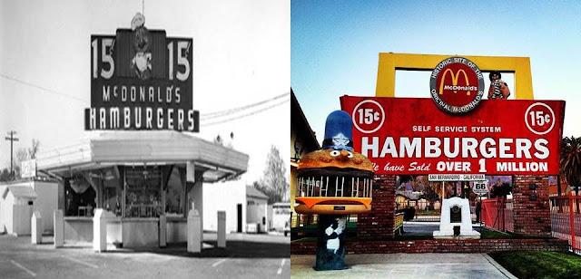 أول مطعم لمكدونالدز كان في محطة وقود, الصورة قبل وبعد التجديد, ماكدونالدز من محطة الوقود إلى سلسلة مطاعم عالمية, ماكدونالدز قصة نجاح بدأت من مطعم صغير في محطة وقود, مطاعم مكدونالدز, مطاعم مكدونالدز العالمية, سلسلة مطاعم مكدونالدز, قصة مطاعم مكدونالدز