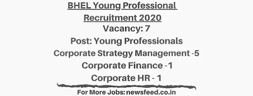 BHEL-Young-Professional-Recruitment-2020