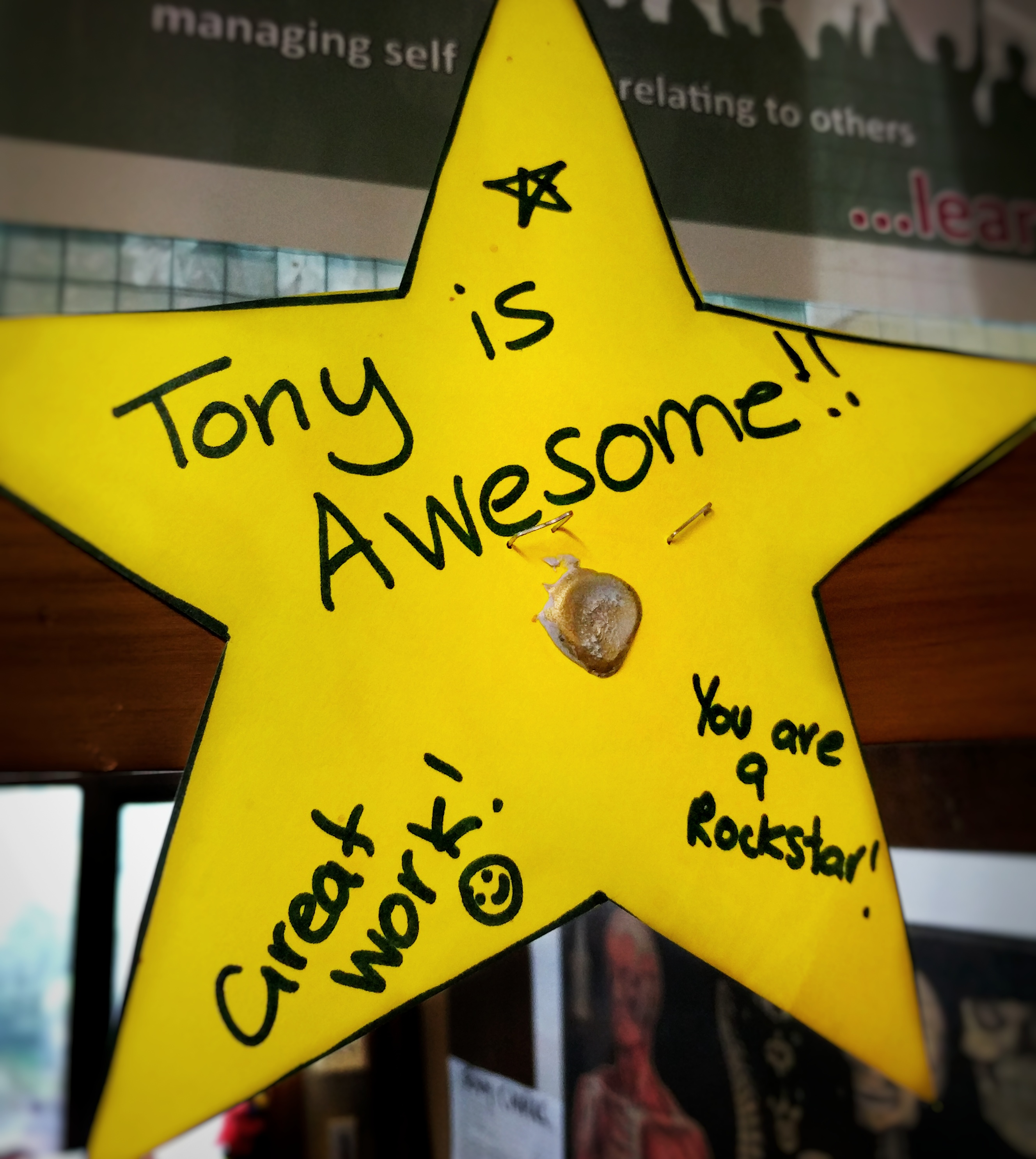 'Tony is awesome' star sign