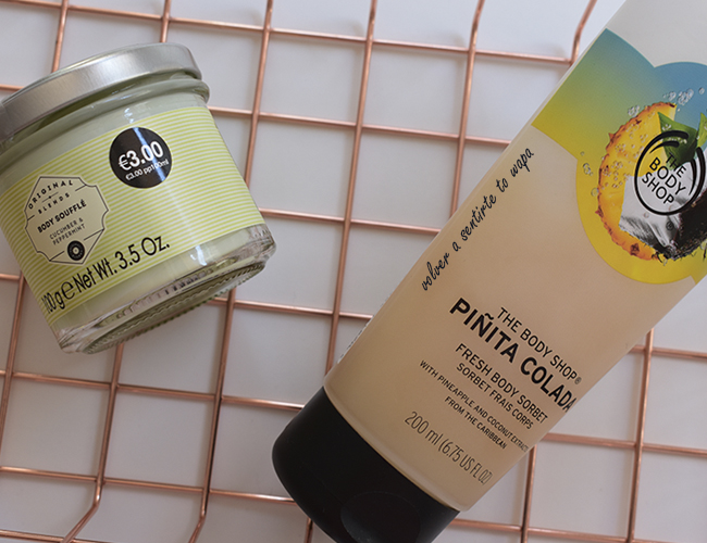 Crema Body Soufflé de Primark y Body Sorbet de Piñita Colada de The Body Shop