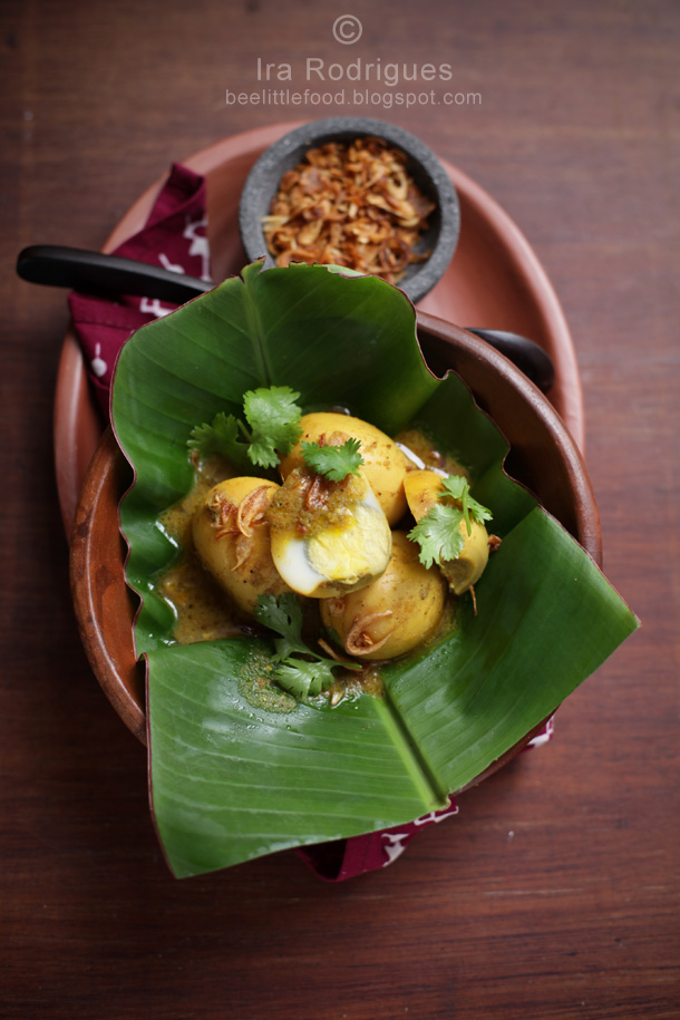 eggs with balinese spice paste called taluh mepindang
