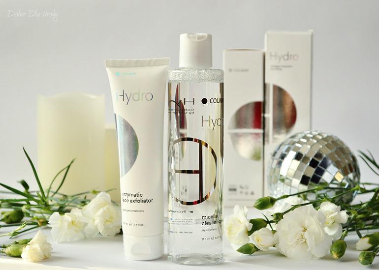 Kolagenowe oczyszczanie twarzy - Płyn micelarny i Peeling enzymatyczny Colway Hydro
