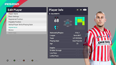 PES 2021 Faces Nicola Dalmonte by VN HUY BUI