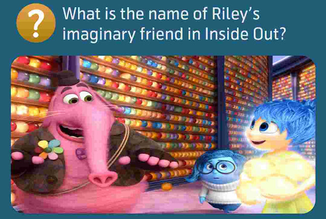 What is the name of Riley's imaginary friend in Inside Out?