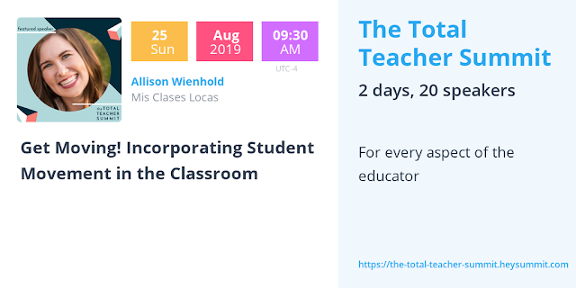 Total Teacher Summit - a free online conference for all teachers! - shared by Mis Clases Locas