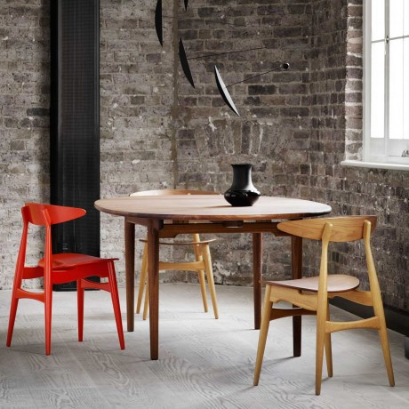 Wegner CH Extendable Dining Table Chic And Soul Distribuidor - Extendable beech dining table