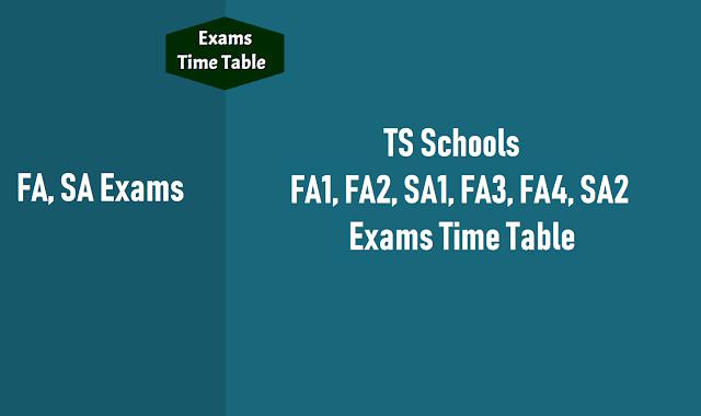 ts schools sa 1,sa 2 exams time table 2019,quarterly half yearly exams,sa1,sa2 exams time table,first term second term holidays,ts schools,fa1,fa2,fa3,fa4 exams timetable,