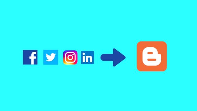 Blogger için sosyal medya butonları