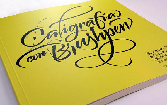 Libro Caligrafía con Brushpen Lettering Time