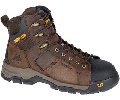 Sepatu Safety Caterpillar Original Carbondate CT Dark Brown