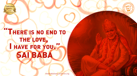 Endless Love - Sai Baba Blessing Hand Heart Background Image