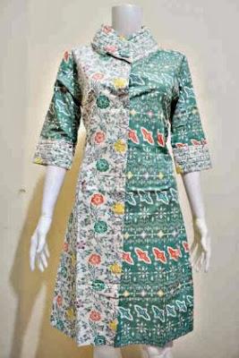Desain tunik batik modis