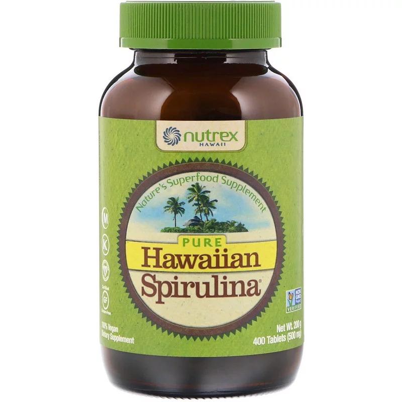 Nutrex Hawaii, Pure Hawaiian Spirulina, 500 мг, 400 таблеток