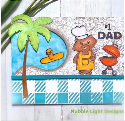 #1 Dad by Priscilla Joseph features Gingham and Newton's BBQ by Newton's Nook Designs; #newtonsnook